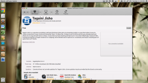 Tagaini Jisho in the Ubuntu Software Center